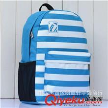 506学生条纹旅行包双肩地摊背包日本原宿时尚防水男女情吕包包