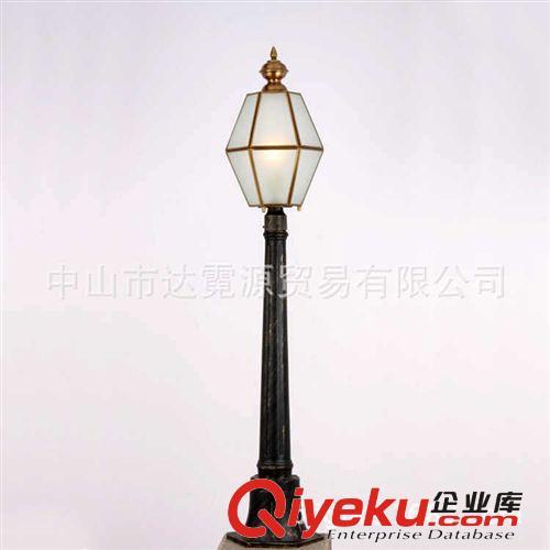 2014新款欧式庭院灯 玻璃户外柱灯 欧式庭院柱灯