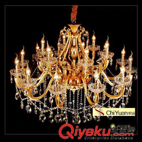 灯饰厂家 供应客厅高档锌合金水晶欧式水晶吊顶灯