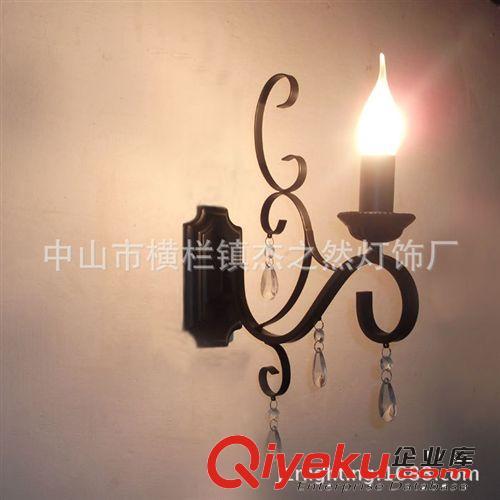 欧式灯水晶镜前灯吊灯室创意美式客厅现代床头壁灯具蜡烛灯田园灯