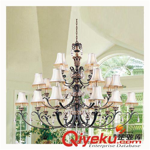 美式灯具客厅吊灯欧式别墅酒店三层大吊灯楼梯灯水晶