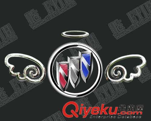 光环小天使 翅膀3d立体 车贴纸 小恶魔随意贴 个性车标贴