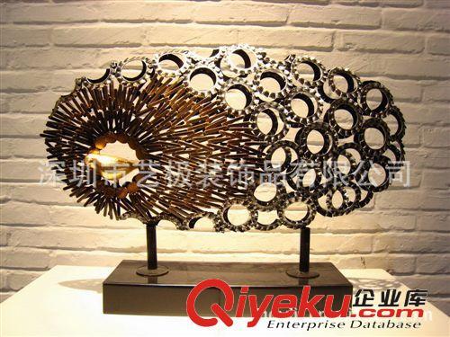 【铁艺+树脂组合雕塑摆件动物雕塑抽象雕塑艺术品