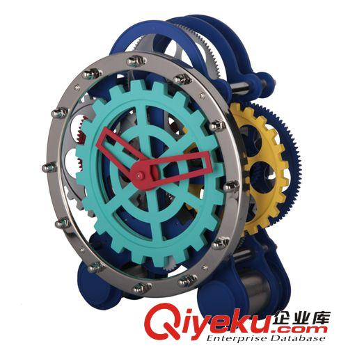 妙刻品牌座台齿轮时钟装饰性座钟复古时尚机械外观大齿轮hy-g001