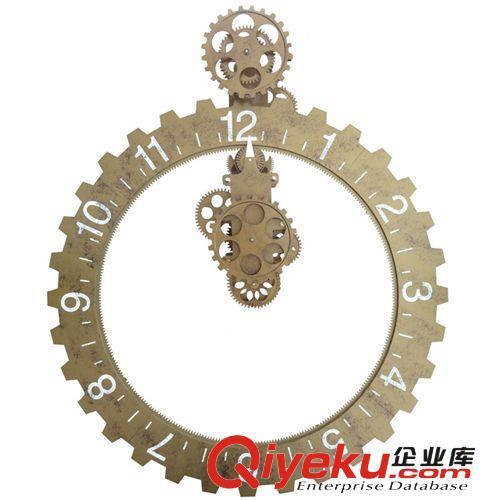 妙刻品牌大气欧式挂墙齿轮钟复古经典创意家居挂钟大