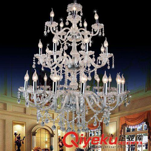 热卖工程灯蜡烛灯欧式家居酒店客厅大吊灯复式楼水晶
