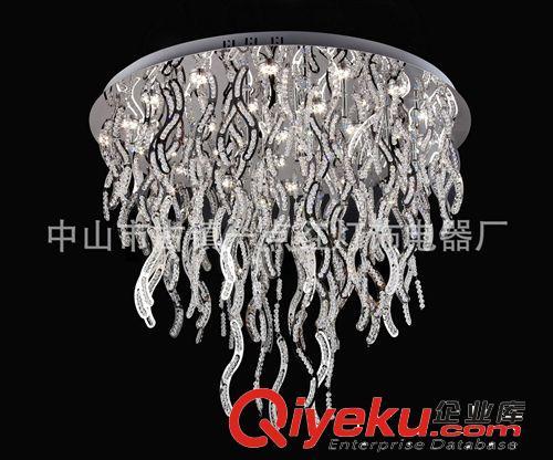 供精品现代水晶灯平板k9/led方形圆形时尚异形金色客厅厂家直销