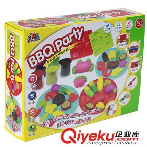 创意泥 彩泥 橡皮泥 烧烤模具套装 儿童益智玩具 安全