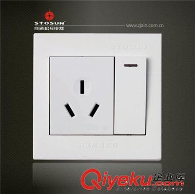 四通松日 居华系列 一开单控16a三孔空调插座