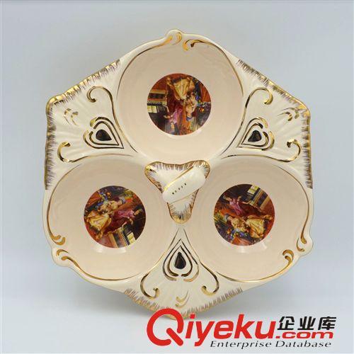 欧式宫廷复古水果盘 高档陶瓷干果盘 客厅 家居装饰摆件 批发特价
