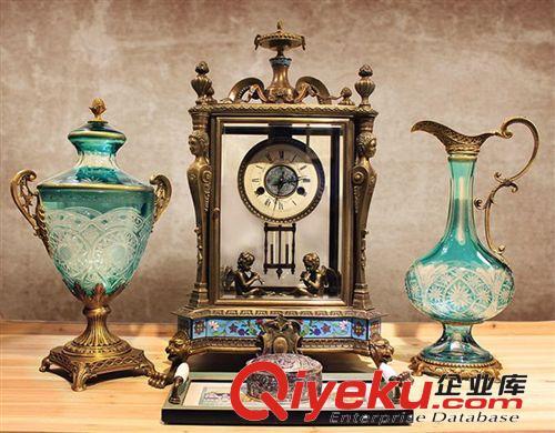 欧式软装饰品 铜质座钟 高档奢华玄关摆件 出口工艺品 家居装饰品