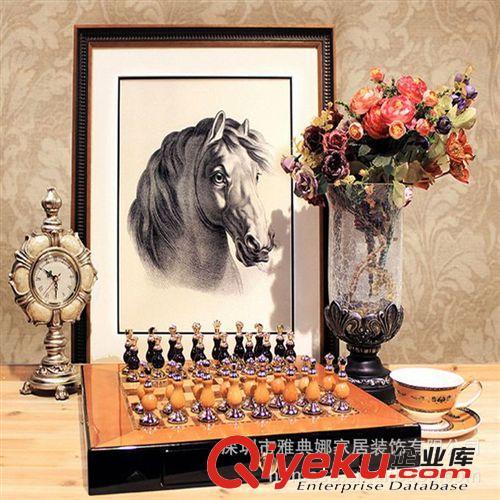 欧式古典装饰品 高档国际象棋