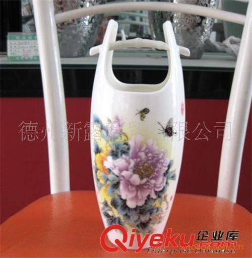 花瓶 牡丹图案