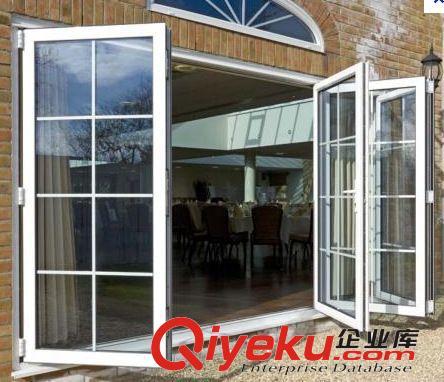 欧式折叠门 中空玻璃中间带各条折叠推拉门图片 欧式