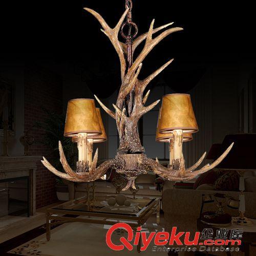 欧式复古美式乡村田园客厅餐厅吧台创意鹿角灯