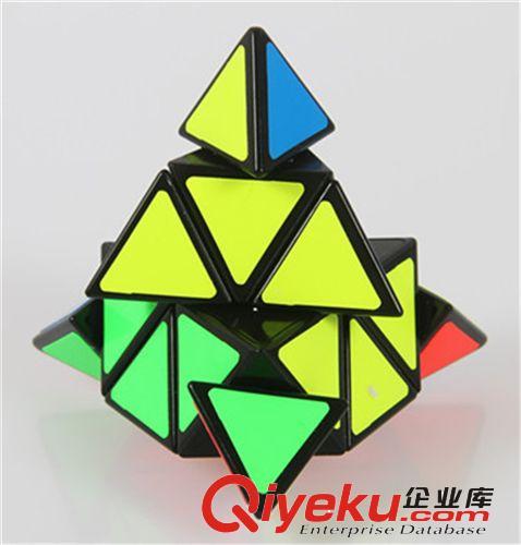【圣手金字塔魔方黑色】 金字塔异形魔方 三角形魔方带教程