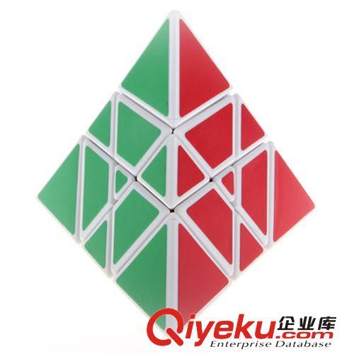 【永骏金字塔魔方白色】 yj炫变魔塔 异形三角形魔方