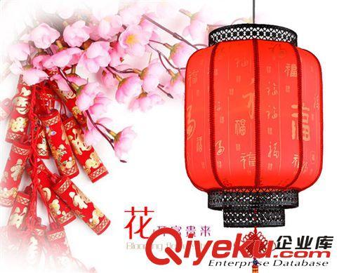新年国庆喜庆仿古红灯笼带中国结吉祥如意冬瓜灯阳台茶楼(图)