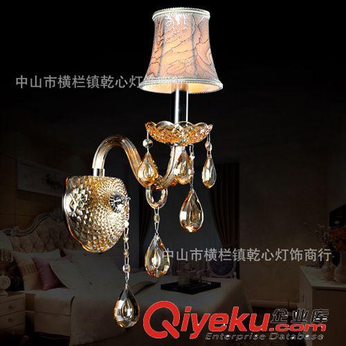 欧式蜡烛水晶灯 琥珀色单头玻璃壁灯