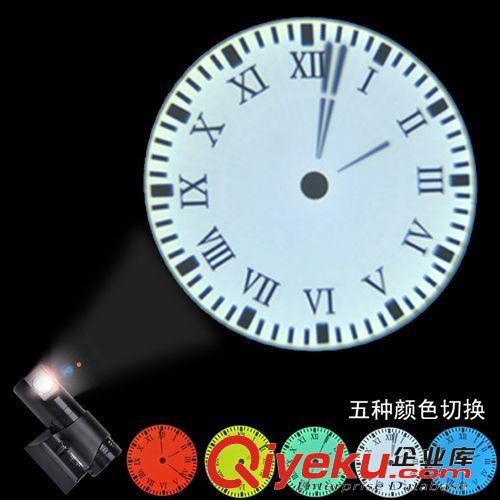 【二代led投影挂钟电子创意时钟客厅挂钟指针夜光