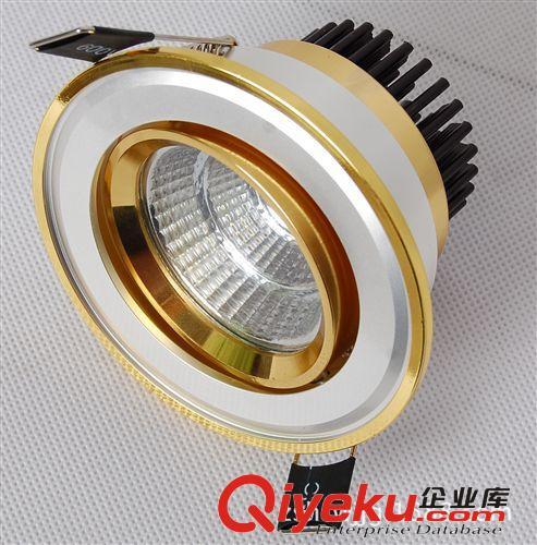 厂家直销大功率天花灯外壳套件,5W电镀天花灯