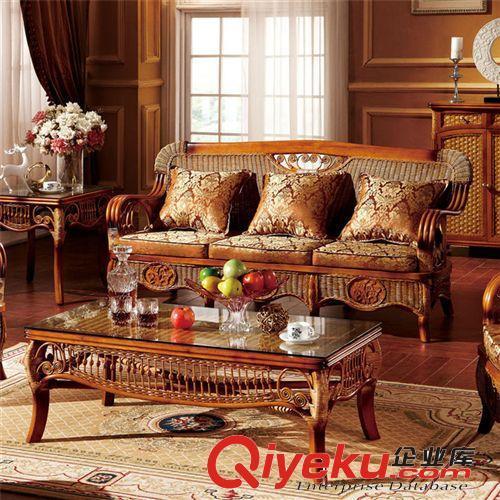 南藤 家具厂直销藤沙发 酒店沙发 客厅高档沙发 别墅沙发椅012