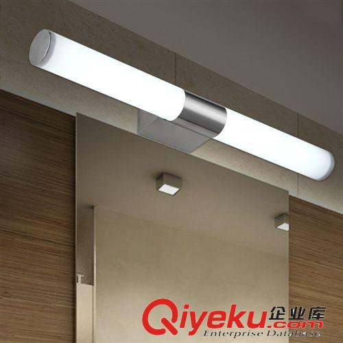 【戴妮led镜前灯简约现代不锈钢浴室卫生间镜灯