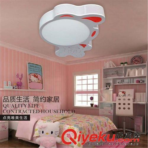 【铁艺卡通异形卧室吸顶灯女孩儿童房间灯led高亮
