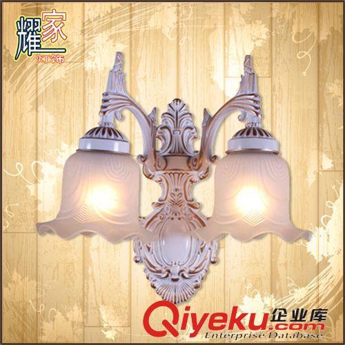 加工定制 欧式卧室壁灯 双头节能白色壁灯