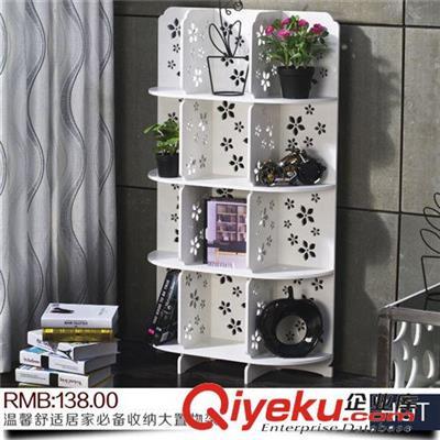 创意雕花 鞋架 书架 多层组合隔板置物架收纳架可
