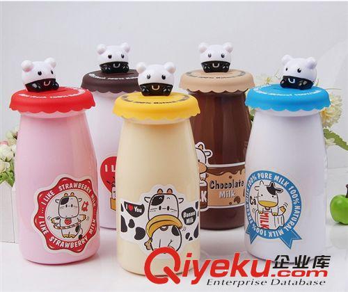 趣味卡通牛奶瓶储蓄罐/存钱罐