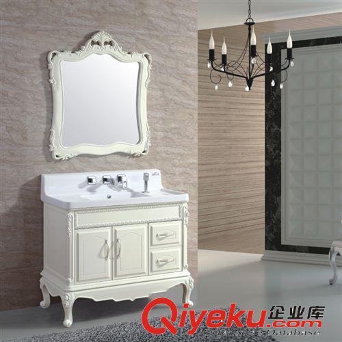 查看厂家供应卫生间洁具欧式玉石1m简欧落地浴室柜原图