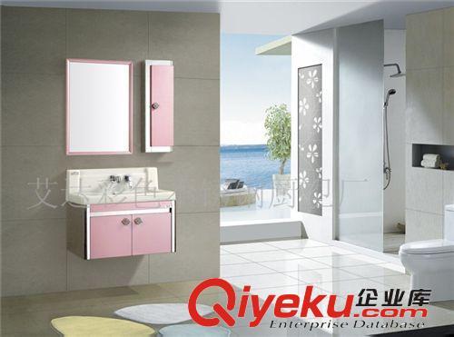 厂家直营新款玉石盆大理石台面不锈钢浴室柜带led镜