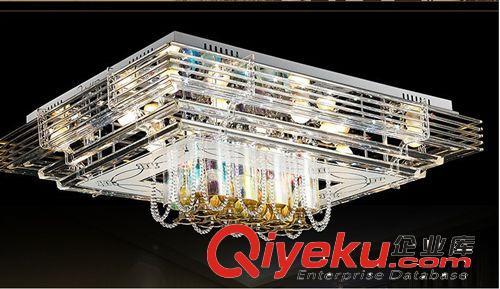 客厅长方型现代led平板低压水晶灯