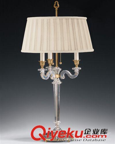 欧式奢华水晶台灯卧室客厅装饰灯具美式复古仿古铜
