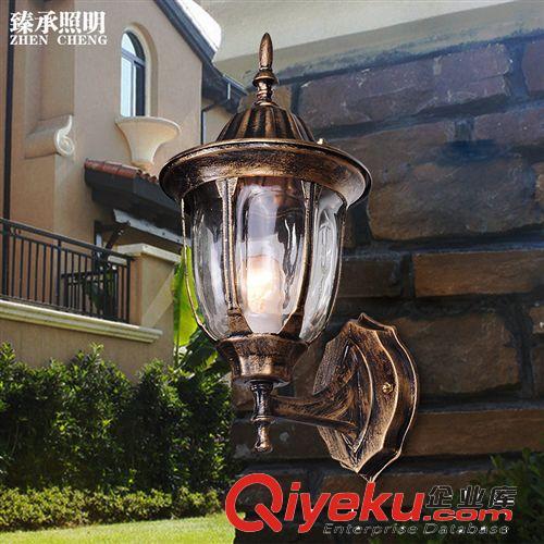 臻承欧式壁灯复古室外阳台防水壁灯户外庭院过道灯墙灯具楼梯壁灯(图)