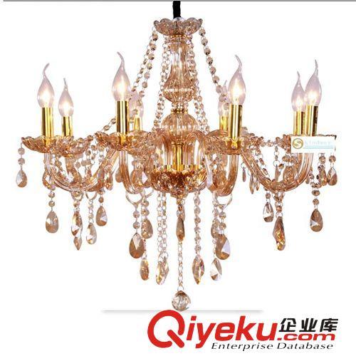 欧式奢华水晶吊灯蜡烛水晶灯客厅餐厅卧室灯饰灯具图片