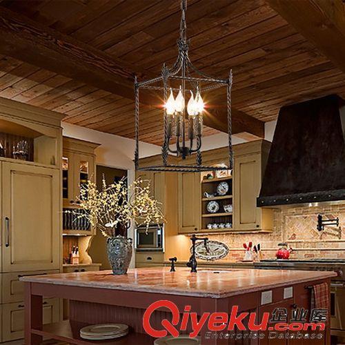 时尚复古铁艺餐厅吊灯别墅客厅吊灯会所过道吸顶灯风