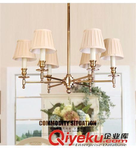 时尚田园风格美式吊灯新中式客厅吊灯设计师的灯厂价批发(图)