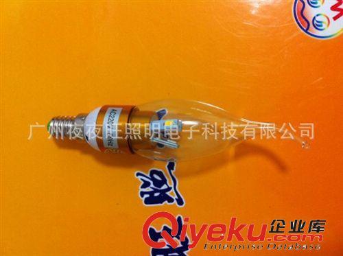 水晶LED蜡烛灯220V 3W LED透明/雾面拉尾灯泡 LED尖泡 E14E 工厂