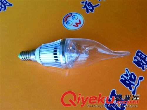 LED蜡烛灯泡3W4W5W球泡节能灯拉尾尖泡灯E14小螺口LED蜡烛灯