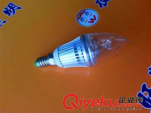 厂家批发LED蜡烛灯泡 卧室灯铝材灯泡 3W
