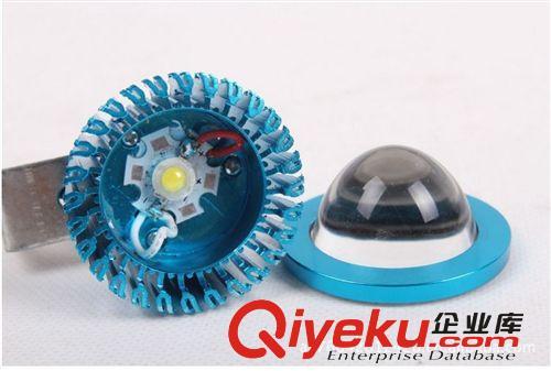 电动车改装件LED前大灯长亮黑壳帽沿射灯12-85V 36V48V72V通用