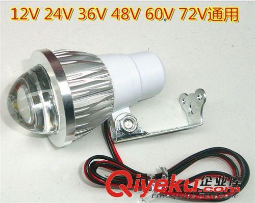 电动车摩托车led大灯车灯射灯改装配件12-85V通用3W5W超亮流氓灯