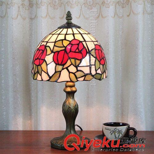 【欧式蒂凡尼彩色教堂玻璃家居装饰灯客厅卧室书房睡