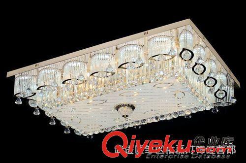 方形客厅水晶灯吸顶灯s金led传统灯具灯饰图片|方形