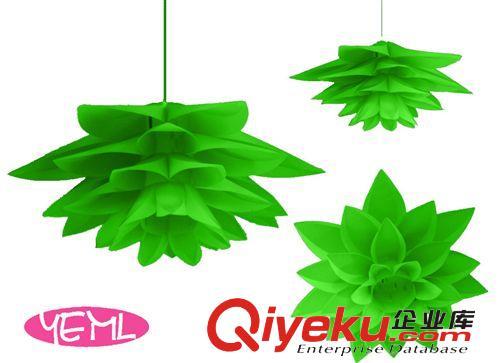 现代幼儿园学校教室食堂绿色漂亮吊灯新款皇冠大树叶