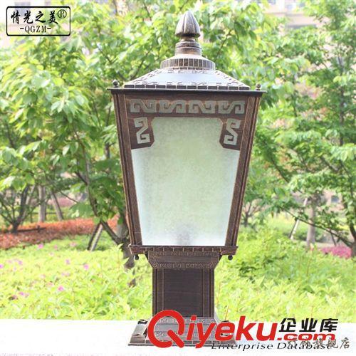 情光之美户外围墙灯庭院防水灯墙头门柱室外柱头灯欧式铸铝路灯(图)