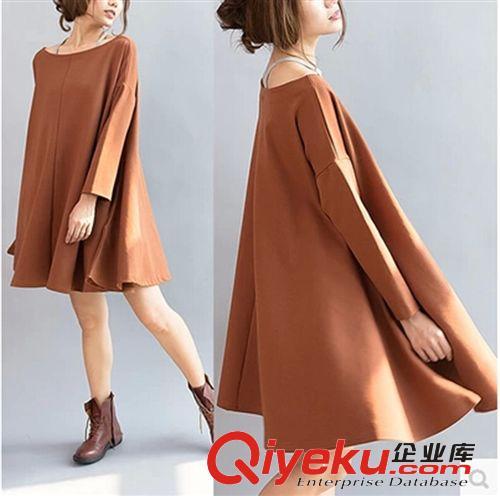 a型连衣裙长袖手绘