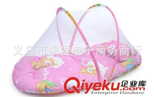 夏季必备-大号便携式 带枕头 可折叠 宝宝蚊帐